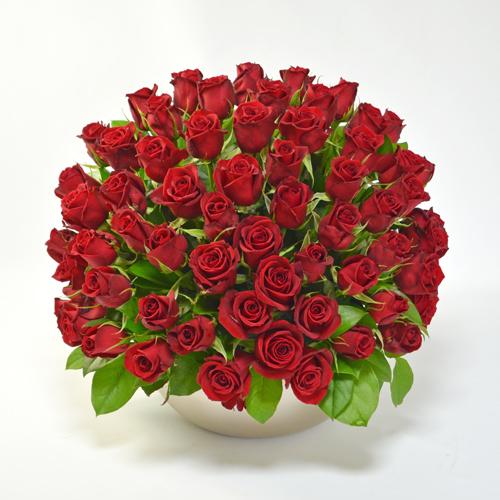 赤バラのアレンジメント(大輪65本)