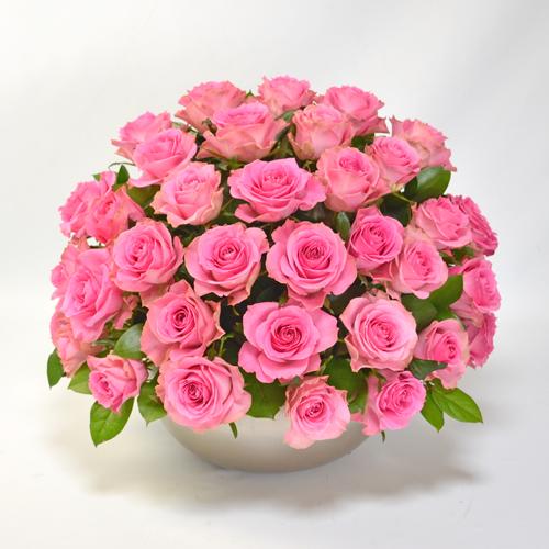 ピンクのバラのアレンジメント(大輪35本)