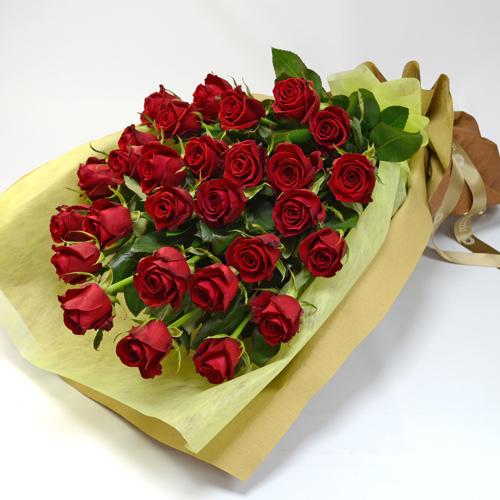 赤バラの花束(大輪28本)