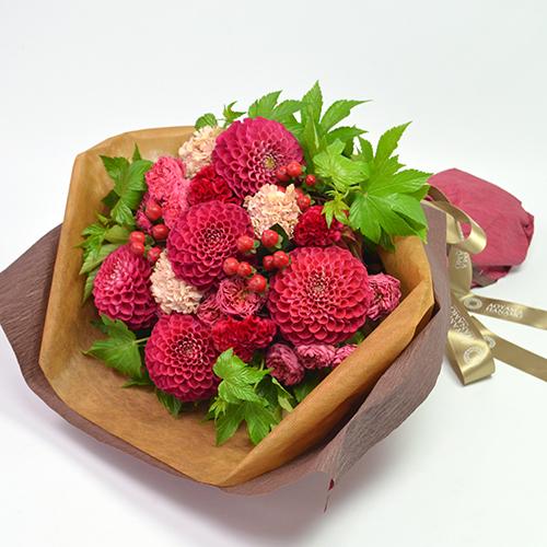 ダリアの花束<フランボワーズ>