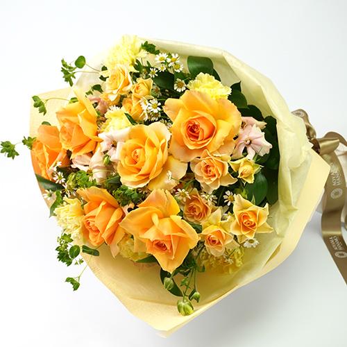 オレンジ色のバラの花束<プリマベーラ>