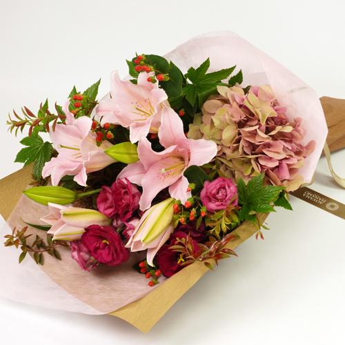 ユリとハイドランジアの花束<フランソワ>