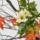秋のいけばな花材 <木大角豆・紅葉木苺・二輪菊>