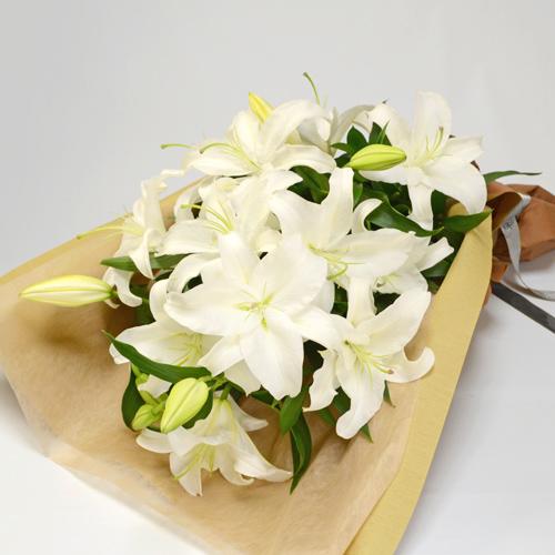 ご供花 カサブランカの花束